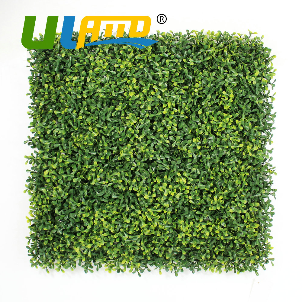 Garden wall ornaments - Uland Artificial Boxwood Hedges Panels 50x50cm Pc Plastic Decorative Garden Ivy Fence Ornaments Home Indoor