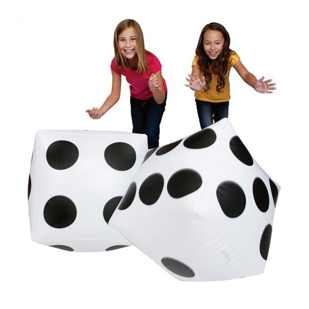 Party Favours High Quality Big Inflatable Dice Pool Toy with A Inflator For Baby Gift