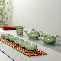Drinkware Coffee & Tea Sets TeaPot Tea Cup Porcelain Portable Travel Tea Set Chinese Kung Fu Tea Set Ceramic Crafts B015