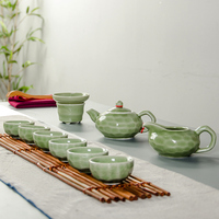 Drinkware Coffee & Tea Sets TeaPot Tea Cup Porcelain Portable Travel Tea Set Chinese Kung Fu Tea Set Ceramic Crafts B015