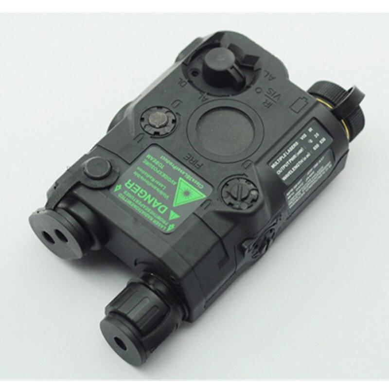 AN/PEQ-15 rojo punto láser blanco LED linterna 270 lúmenes para el Rifle de caza de visión nocturna estándar de 20mm caja de la batería elemento - 4