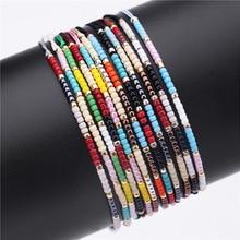 Multicolour MIYUKI Beads Bracelet & Bangle For Women man Adjustable Charm Bohemia Ethnic fine hand Jewelry Gift 12 choice