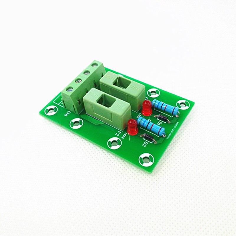 Fuse Module,2 Position Fuse Panel Mount Power Distribution Module Board. expansion module elc md204l text panel