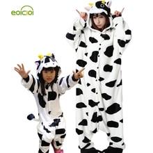 Animaux pyjamas une pièce Famille correspondant tenues Adulte onesie Mère et fille vêtements Totoro Dinosaure Licorne Pyjamas femmes