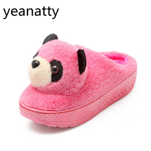 Warm panda women Slipper Cartoon Animal Cute Winter Home Indoor Bedroom Plush Shoes Bottom Comfortable girls Christmas gift