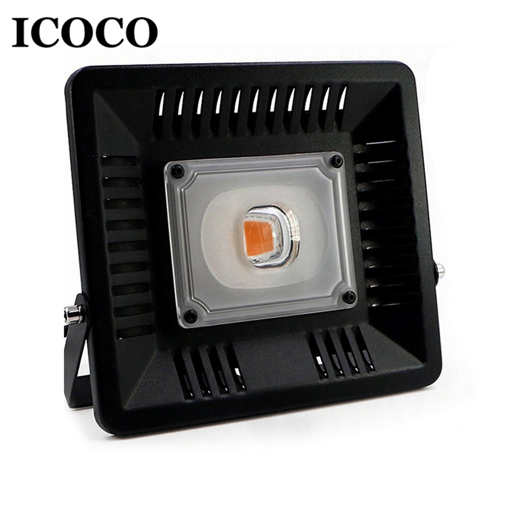 ICOCO 50W LED Lamp Plant Grow Light Ultra-thin Waterproof Aluminum Indoor Plant Flower Growth Bloom For Greenhouse Plant