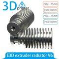 Цельнометаллический J-head hotend V6 для 3D-принтера  экструдер RepRap bowden  прямая филаментная подача 1 75 мм/3 мм  M6