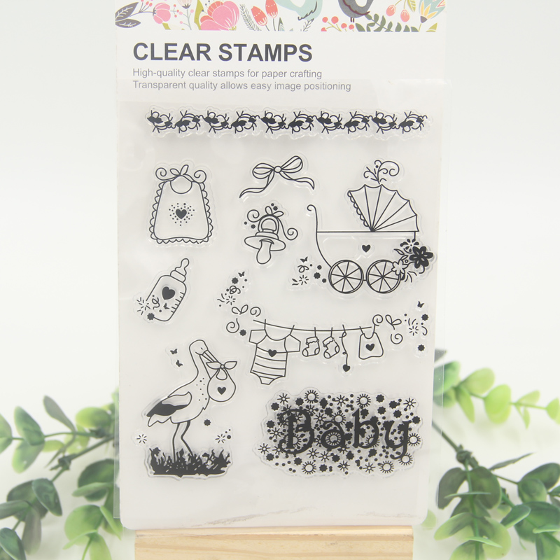 1 sheet DIY Baby Bottle Scrapbook DIY photo cards account rubber stamp clear stamp transparent stamp scrapbook diy photo cards account rubber stamp clear stamp finished transparent chapter wall decoration 15 18