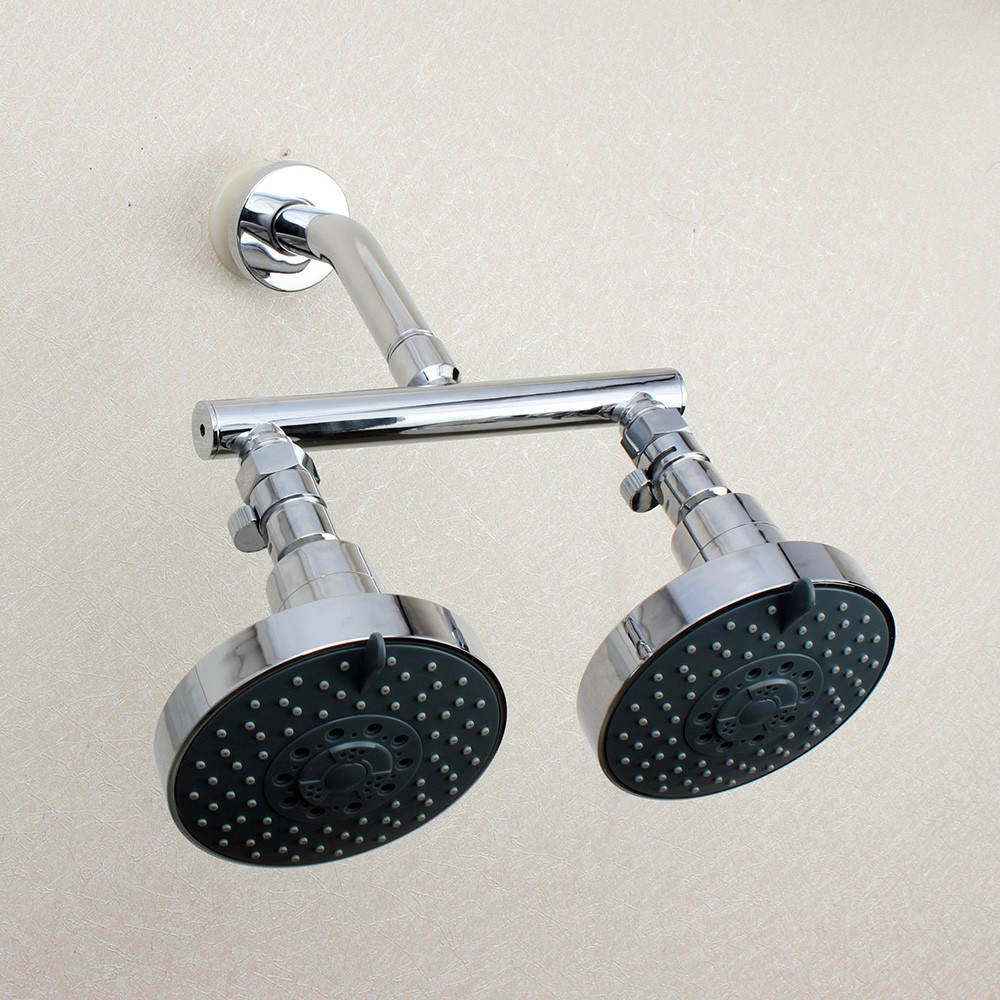 Dual Shower Head Manifold Tube Shower Arm With Fixed Showerheads ...
