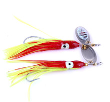 5pcs Fishing Lure Soft Bait Octopus Squid Lure With Spoon Lures 8g