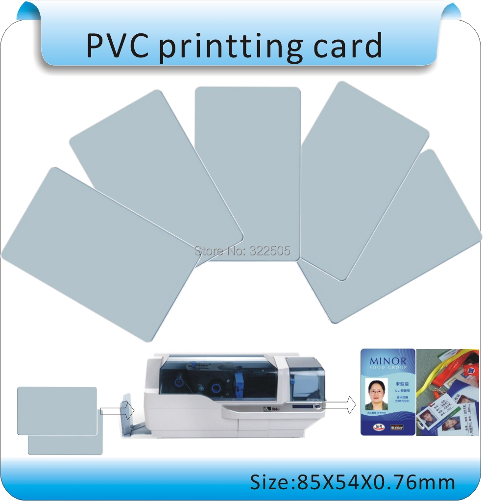 Long-term Sales Of 100PCS  White PVC Cards Can Be Printed, Thickness 0.76MM(85X54mm) No Chips