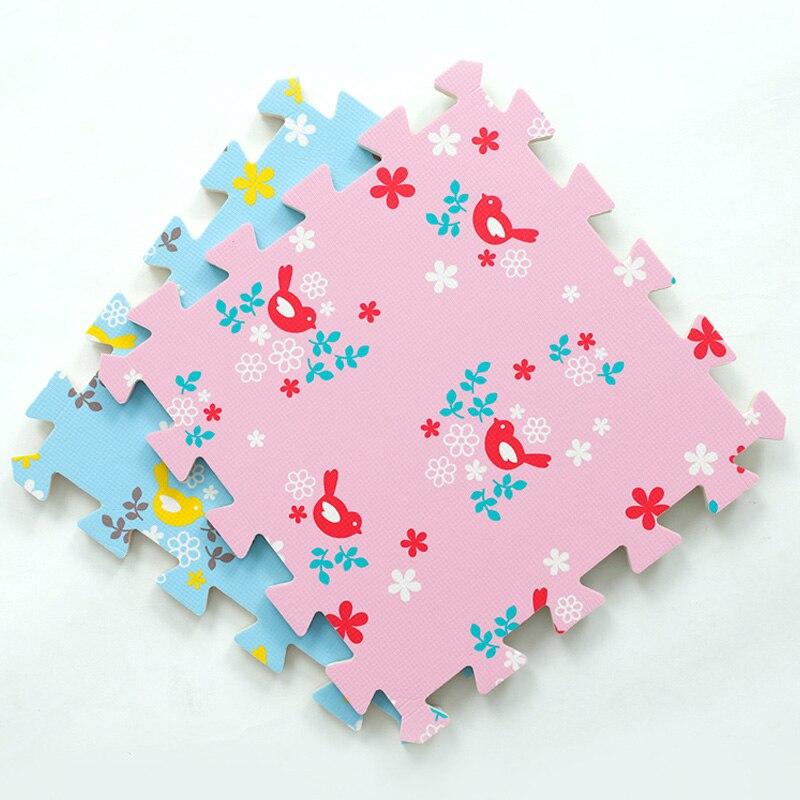 JCC Baby EVA Foam Puzzle Play Mat /Bird kids Rugs Toys Carpet and Rug Interlocking Exercise Floor Tiles,Each:30cmX30cm(no edge)