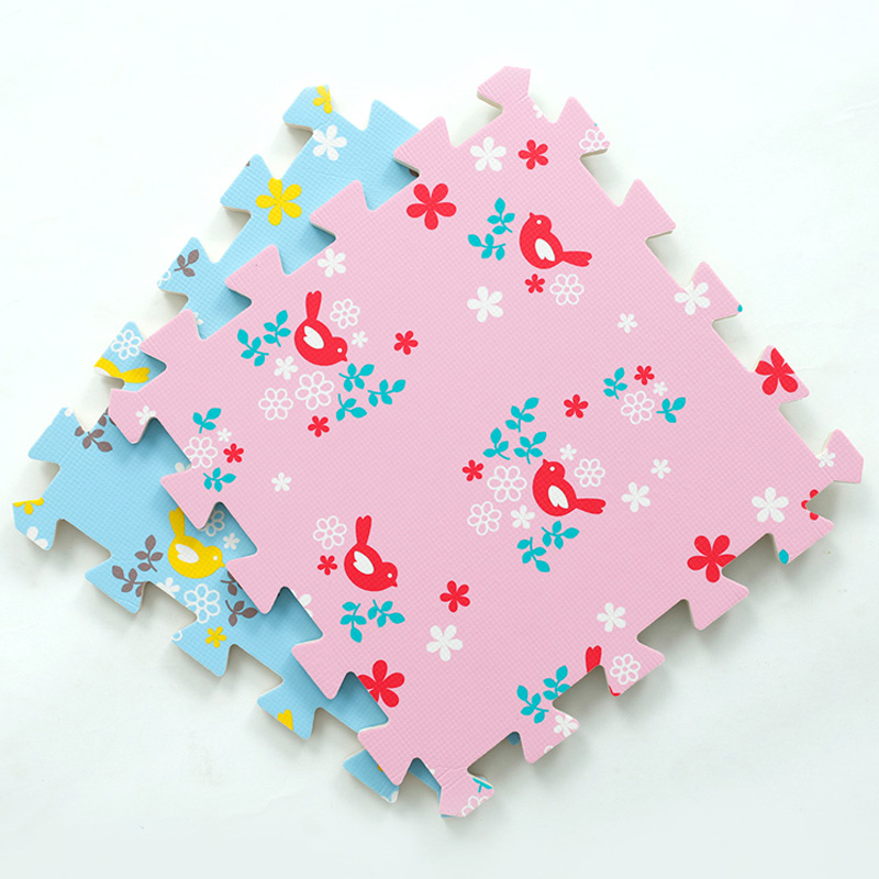 JCC 베이비 EVA 폼 퍼즐 놀이 매트 / 버드 키즈 러그 - 유아 및 유아용 장난감