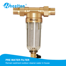 Wheelton Prefilter Whole House Water Filter Purifier System 59 Brass 40micron Stainless Steel Mesh Russian Warehouse Freeship