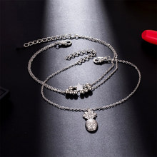Star, Pineapple and Heart Anklets