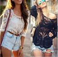 Women Blouses Embroidery Floral Shirt Female Lace Tops Ladies Long Sleeve Shirts Blouse Autumn