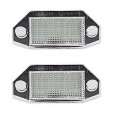2 pces carro conduziu luzes da placa de licença lâmpada para mondeo mk3 2000-2007 4/5 porta 12v branco 24smd erro número livre luzes da placa de licença