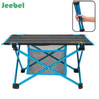 Jeebel Portable Outdoor Folding Table Simple Garden Table Ultralight Aluminum Alloy Desk For Fishing Camping Barbecue Picnic