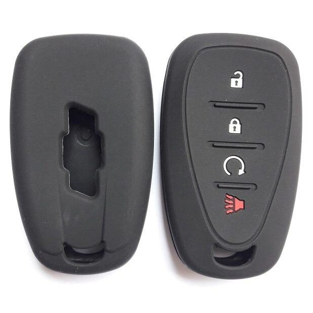 Auto FOB Eintrag Silicon Jacke Für Chevrolet Chevy 2016-2017 CAMARO VOLT IMPALA MALIBU Tracker 4 Taste Smart schlüssel
