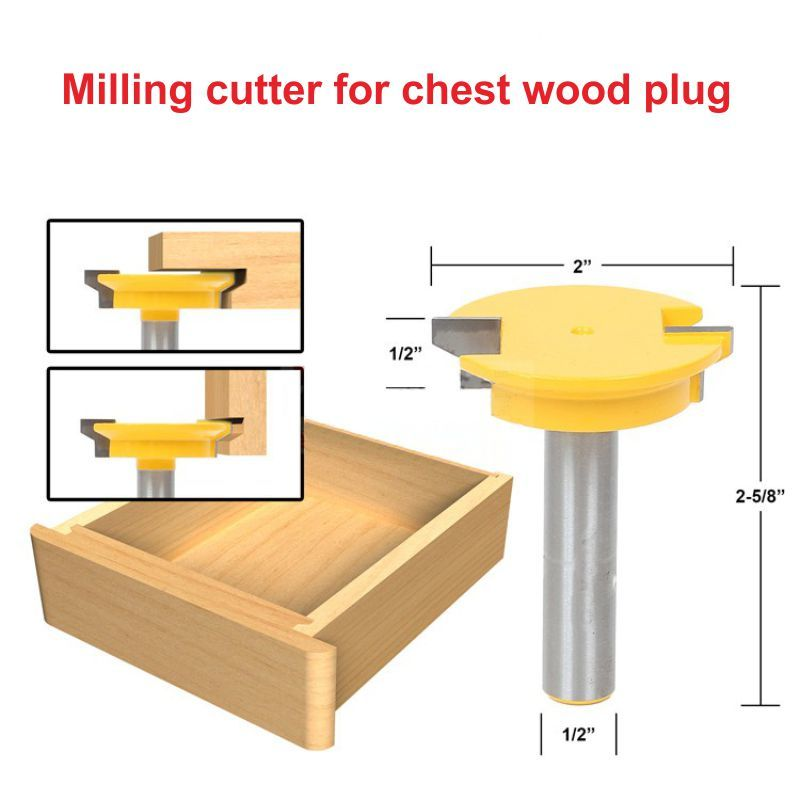 1/2*2(50.8mm) milling cutter for drawer wood plug wood Milling Cutter 1 2 2 50 8mm milling cutter for drawer wood plug wood milling cutter
