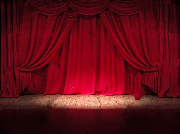 Escenario De Teatro Cortina Roja Circo Fotografía Fondos