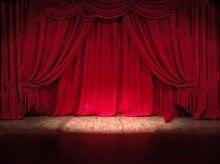 Palco do teatro Cortina Vermelha Circo Computador impresso contexto da Fotografia Fundos pano de Vinil de Alta qualidade partido foto cenário