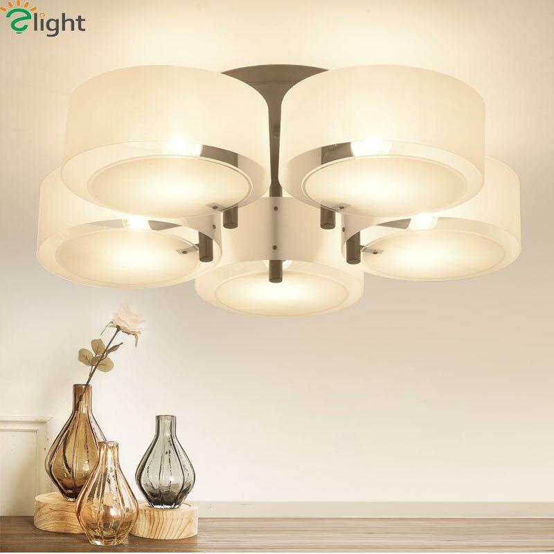 Moderní vícebarevné akrylové LED lustry osvětlení jídelna černá / bílá kov led strop lustr lampa ložnice lustr