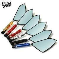 Espejos laterales de espejo retrovisor para motocicleta Ajuste de aluminio CNC para HONDA CBR400/NC23/NC29 VFR400/NC30 RVF400/NC35