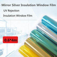 SUNICE Waterproof Silver Window Film One Way Mirror UV Rejection Stickers Insulation Privacy Home Office Decoration 1.52m x 20m