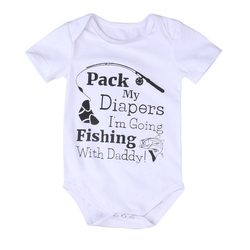 Newborn Baby Clothing Short Sleeve Cotton Fishing Baby Rompers Girls Boys Clothes Infantil Costumes Jumpsuit Playsuit Outfits
