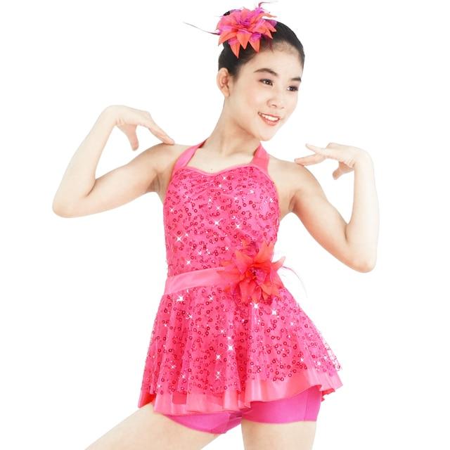 Trajes de baile de lentejuelas para niños Jazz   tap danza hip hop danza  lyrical Ballet 332d2393ebb