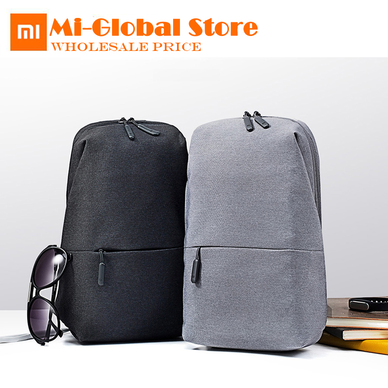 Xiaomi chest pack 4L capacity Backpack urban leisure Shoulder Type Unisex polyester material Smooth draw cord