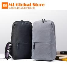 Xiaomi нагрудная сумка 4L емкость рюкзак городского отдыха плеча Тип унисекс полиэстер материал гладкий шнуром молнии дизайн