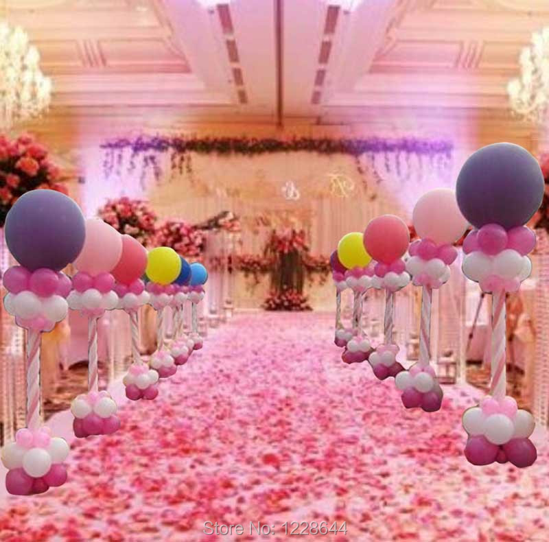 12Meter Balloon Column Base Plastic Poles Arch Wedding Decorations Company Business Birthday Party Celebration In DIY