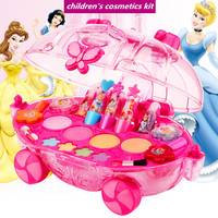 Princess Makeup Tools Set For Kids Best Birthday Christmas Gift Girls Water Soluble Beauty Pretend Play Child Cosmetics Kit Toys