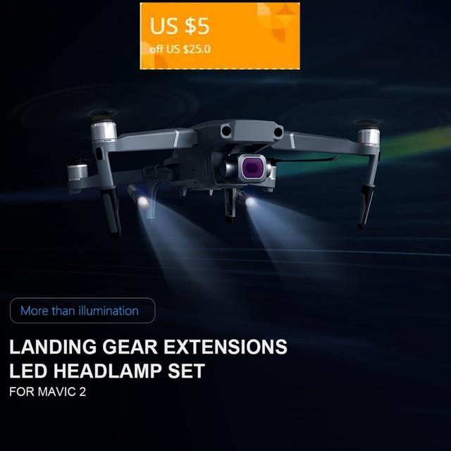 New Arrival Updated PGYTECH Increased Landing Gear LED Kit for DJI MAVIC 2 PRO/MAVIC 2 ZOOM for DJI Drone Flight UAV In Night