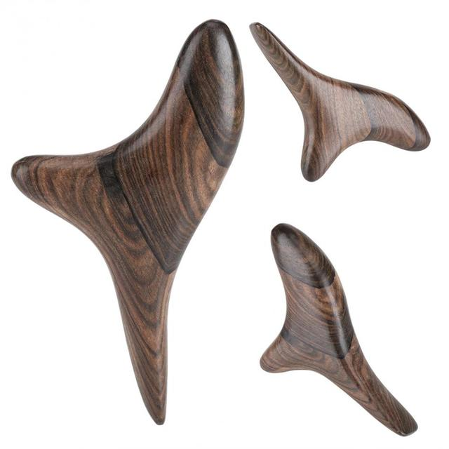 Vietnam Fragrant Wood Reflexology Acupuncture Thai Point Gua Sha Massager Roller Therapy Thai Body Massager