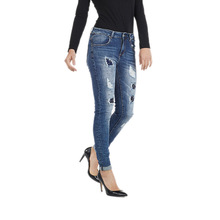 My will jeans Mid-rise  high-elastic jeans  shredded stickers  stars and diamonds made in china 616