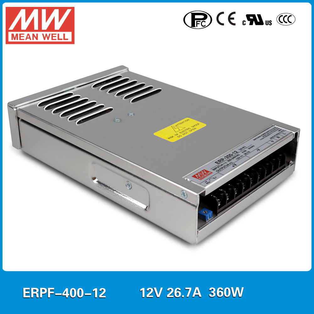 Original Meanwell ERPF 400 12 input 110 220VAC to 12VDC 360W rainproof power supply 360W 30A