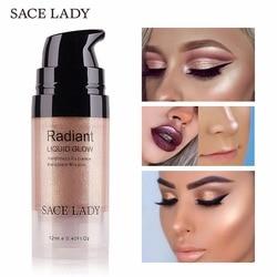 SACE LADY maquillaje iluminador crema iluminador cara brillo profesional brillo maquillaje líquido Kit marca cosmética