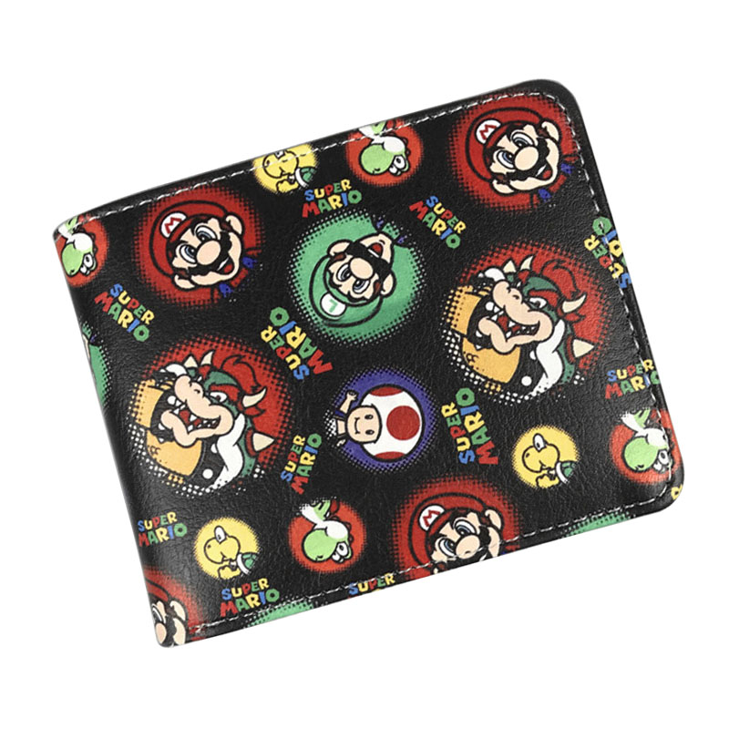 Lovely Super Mario Purse Cartoon Anime Super Mario Games Print Wallet portefeuille femme Creative Gift Money Bags Short Wallets hot pvc purse games overwatch wallets for teenager creative gift money bags fashion casual men women short wallet page 2
