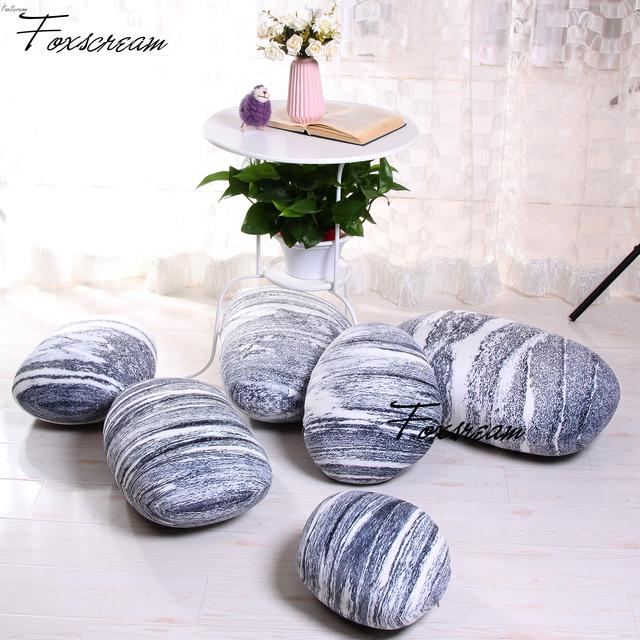 modern outdoor cushions 6 pieces stones pillows covers colorful