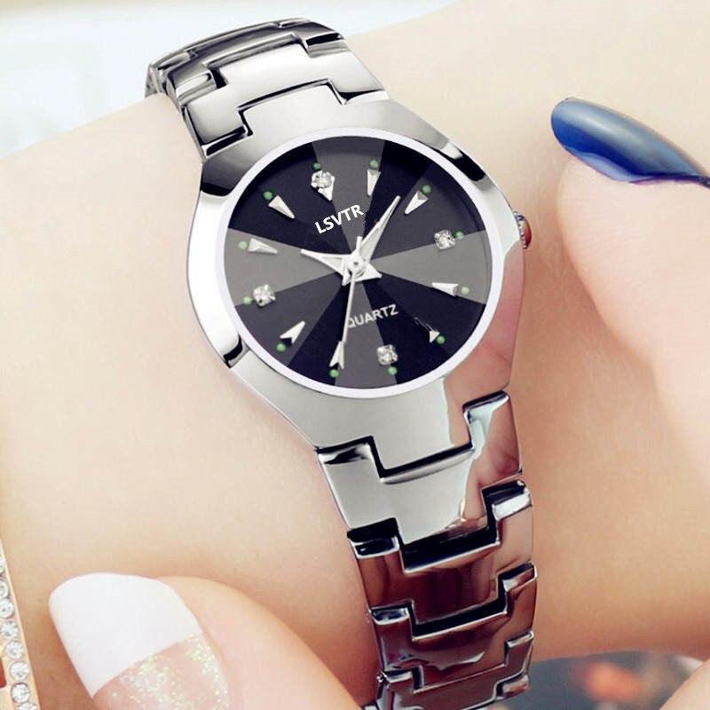 Lovers Watch Women Silver Bracelet Stainless Steel Wristwatch Fashion Dress Casual Small Watches Fine Watchband Men Quartz Clock