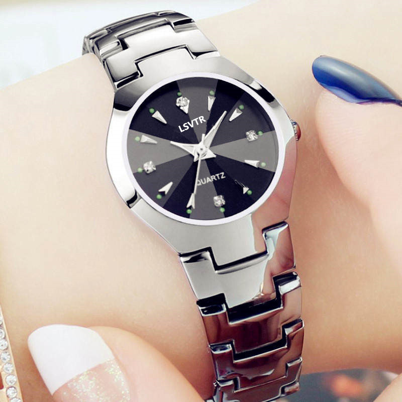 Lovers Watch Women Silver Bracelet Stainless Steel Wristwatch Fashion Dress Casual Small Watches Fine Watchband Men Quartz Clock