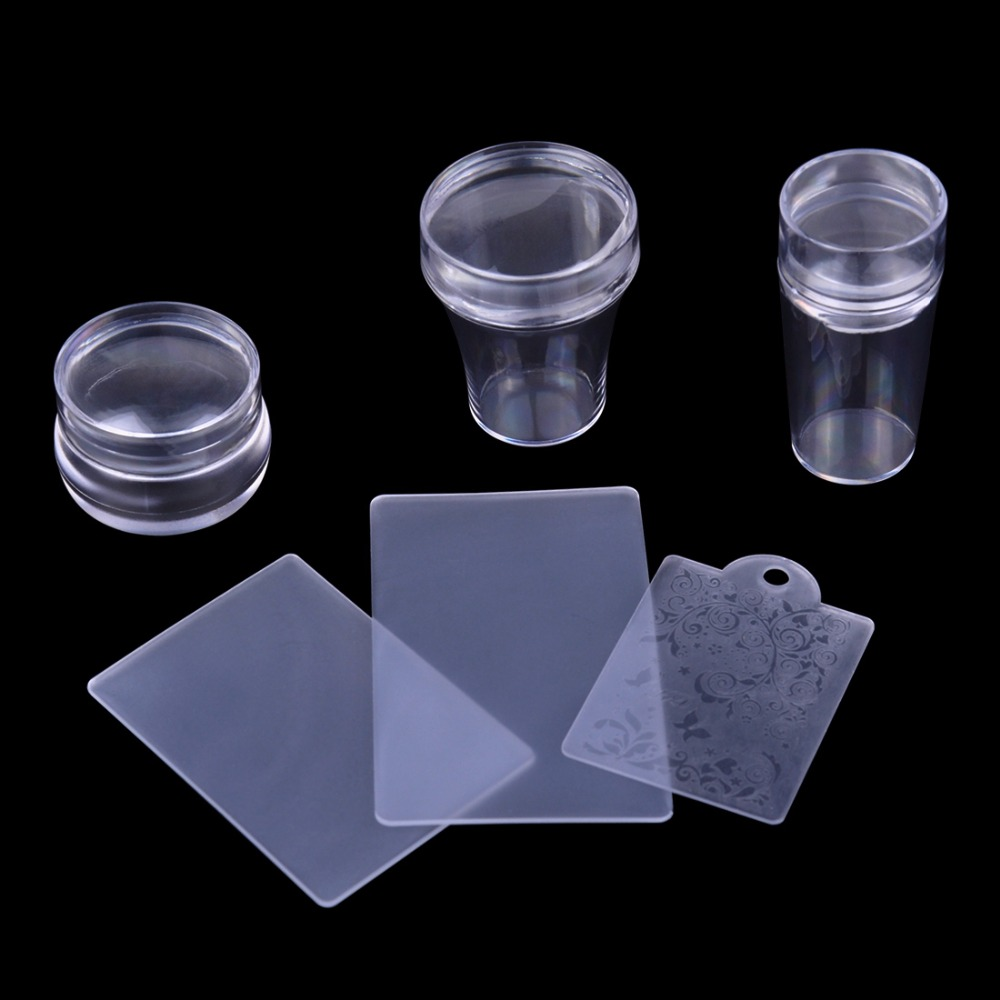 ⑧3 diferentes set clear jelly Stamper placa y Raspadores set DIY ...