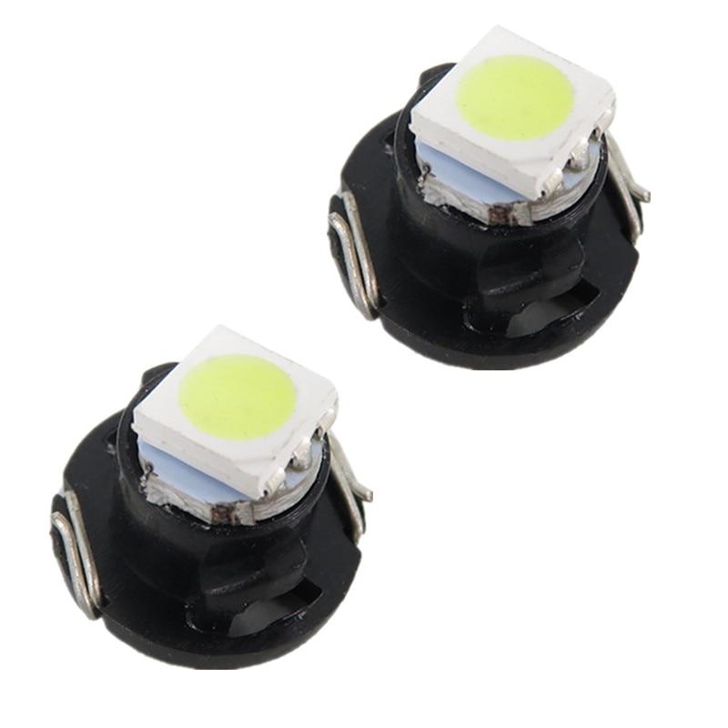 T4 2 Led Neo Wedge Switch Radio Dash Indicator Light A C Climate Heater Control Bulbs For Camry Corolla Tacoma Matrix 10pcs