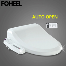 FOHEEL Automatic Open Smart Toilet Seat Electric Intelligent Bidet Toilet Seat WC Auto Open Seat Heat Toilet Seat Cover import seat qfp100 burner seat zy510b adapter zlg x5 x8 5000u programming seat