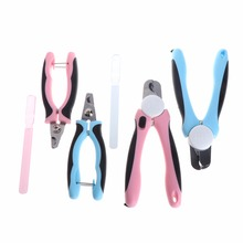 1PC Pet Dog Cat Nail Clippers Grooming Clipper Professional Stainless Steel Nail Safety Guard File Pet Supplies C42