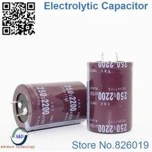 12 pcs/lot 250 V 2200 UF condensateurs électrolytiques en aluminium à immersion radiale taille 35*50 2200 UF 250 V tolérance 20% V