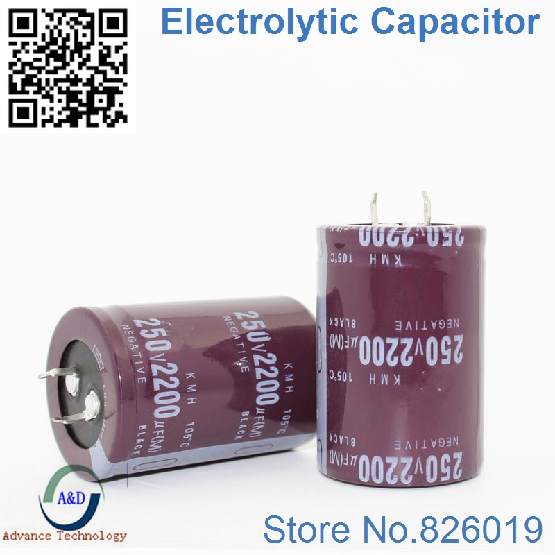 12pcs/lot 250V 2200UF Radial DIP Aluminum Electrolytic Capacitors size 35*50 2200UF 250V Tolerance 20%-in Capacitors from Electronic Components & Supplies